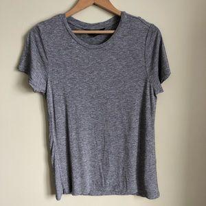 Scoop neck wool tee shirt